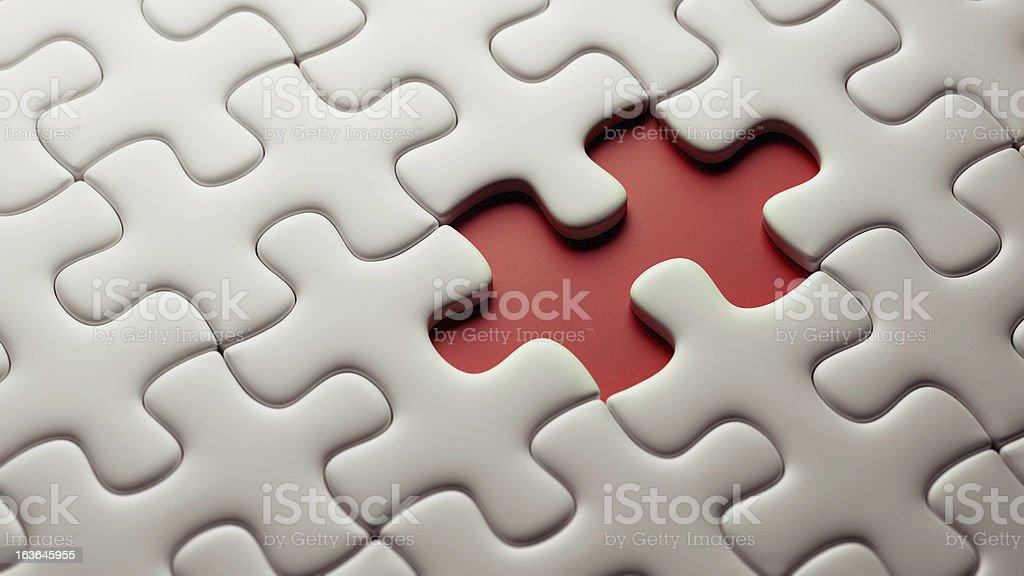 Incomplete Puzzle stock photo