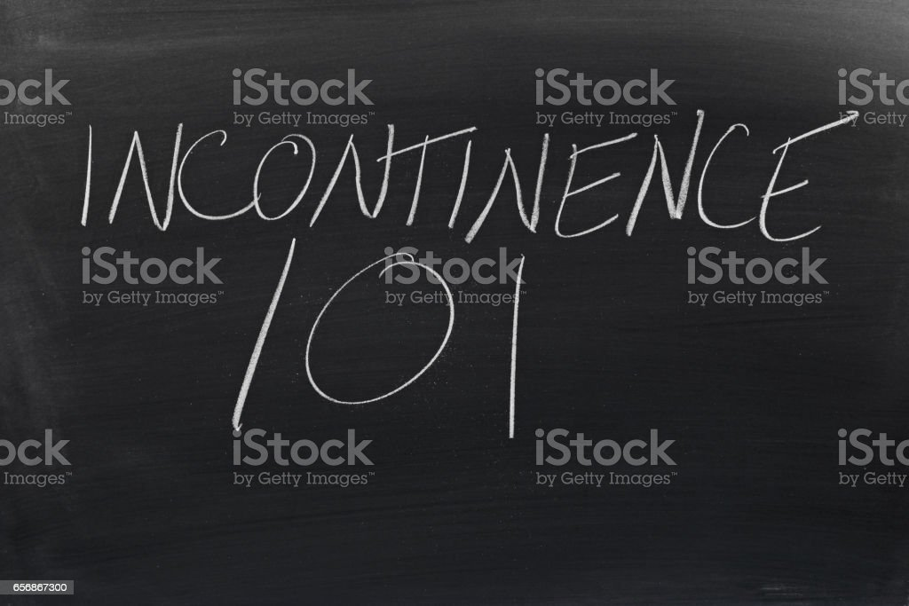Incontinence 101 On A Blackboard stock photo