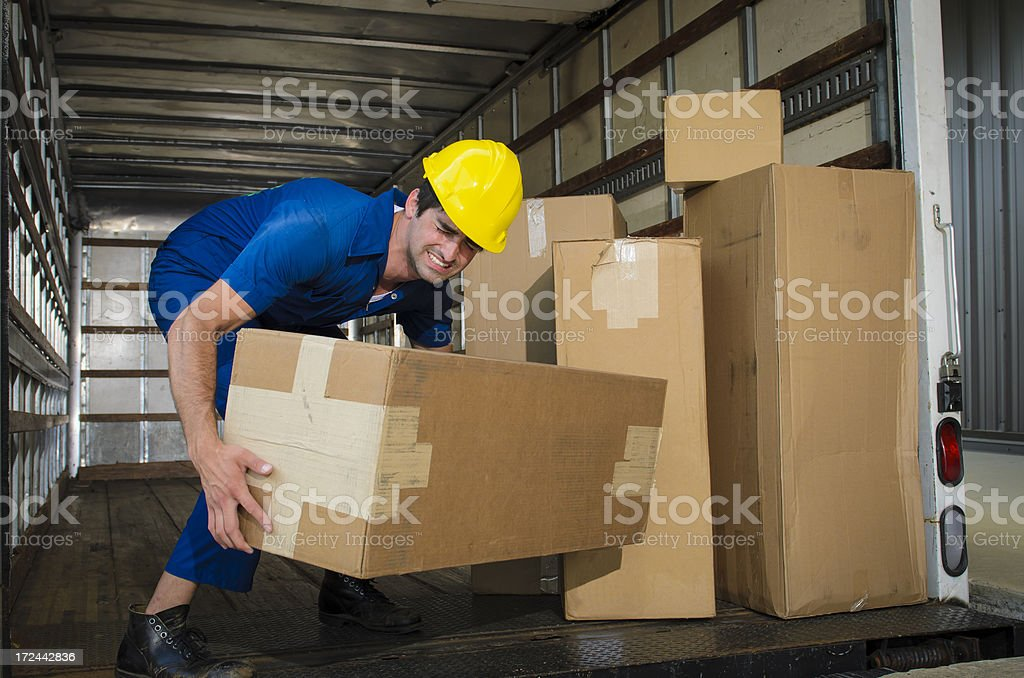 Incorrect Lifting stock photo