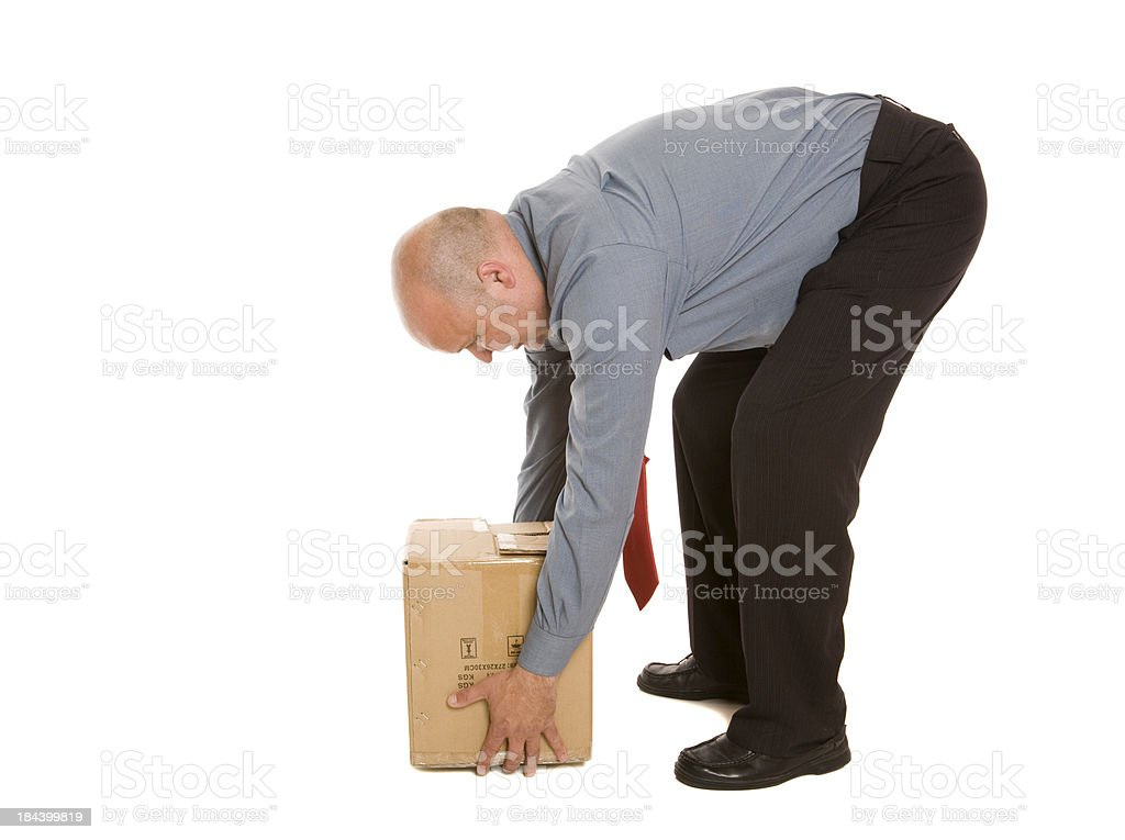 Incorrect Lifting Technique royalty-free stock photo