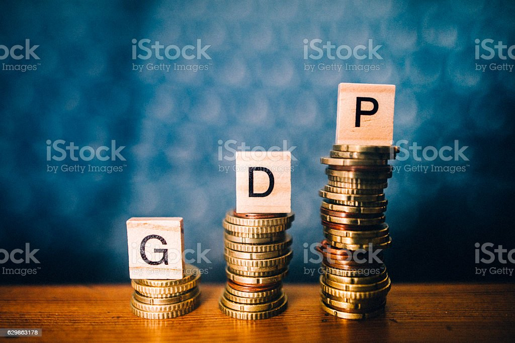 GDP increase stock photo