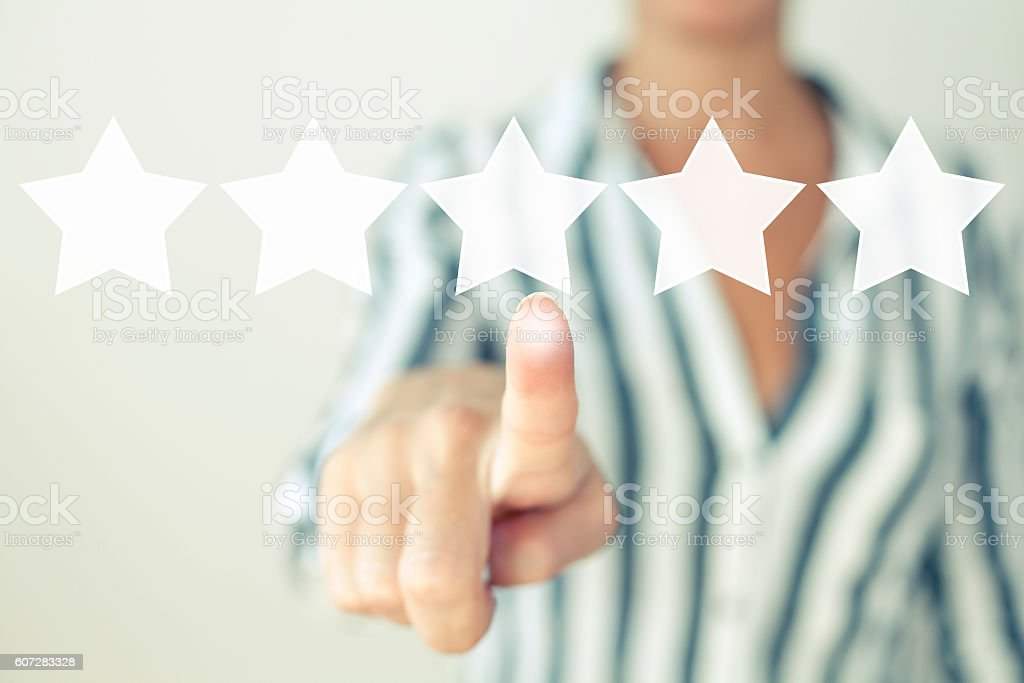 Increase rating evaluation review feedback stock photo