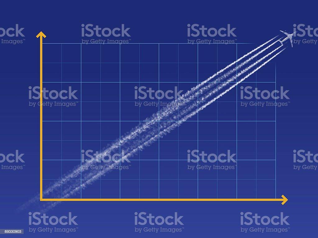 Increasing Chart royalty-free stock photo