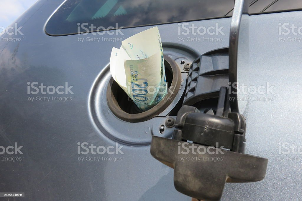 Increasing cost of fuel stock photo