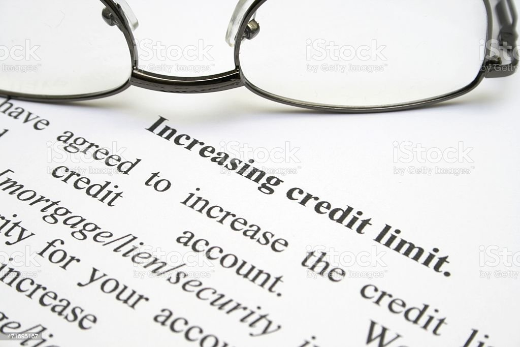 Increasing credit limit royalty-free stock photo