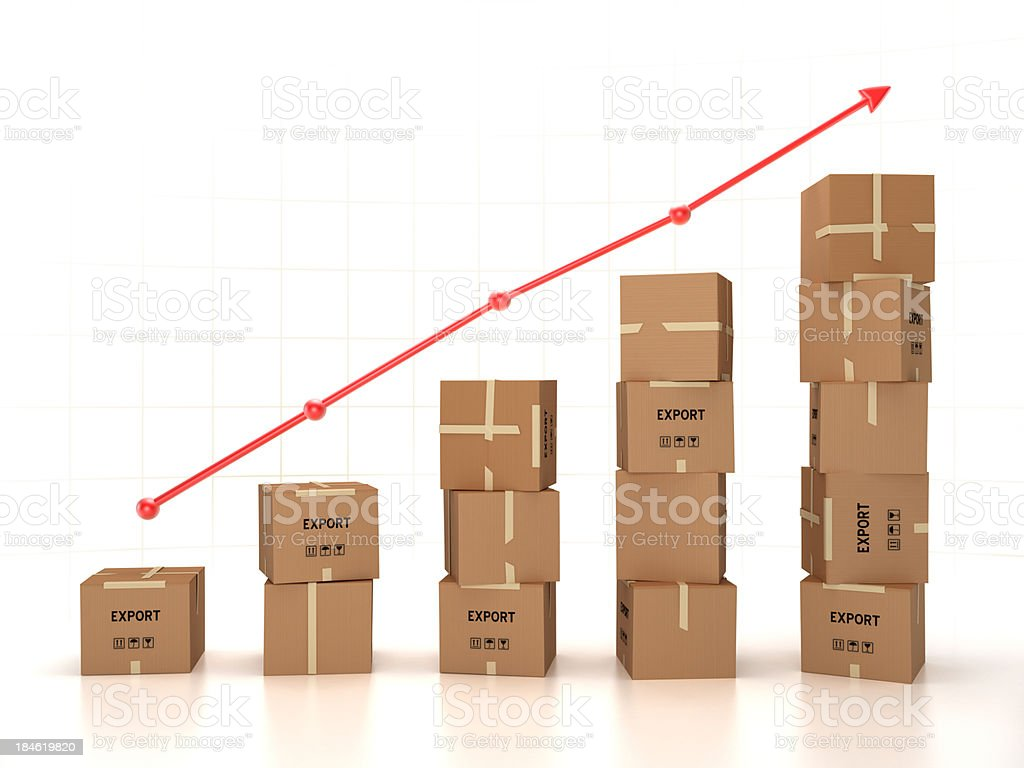 Increasing exportation royalty-free stock photo