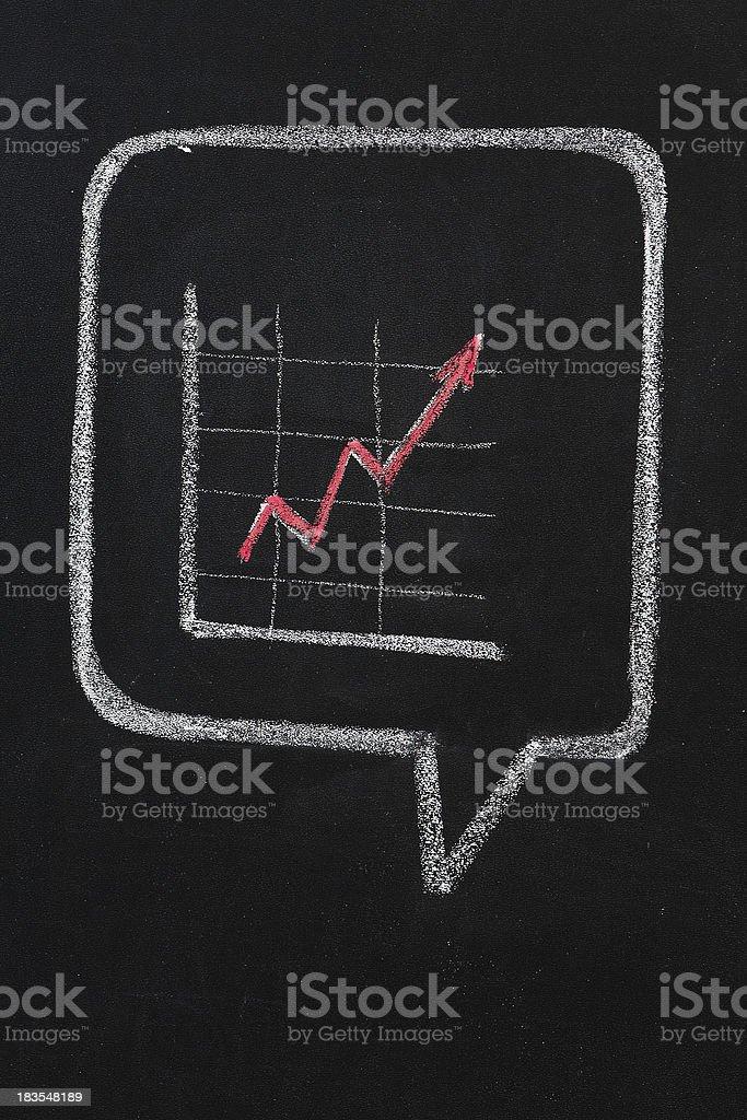 Increasing graph stock photo
