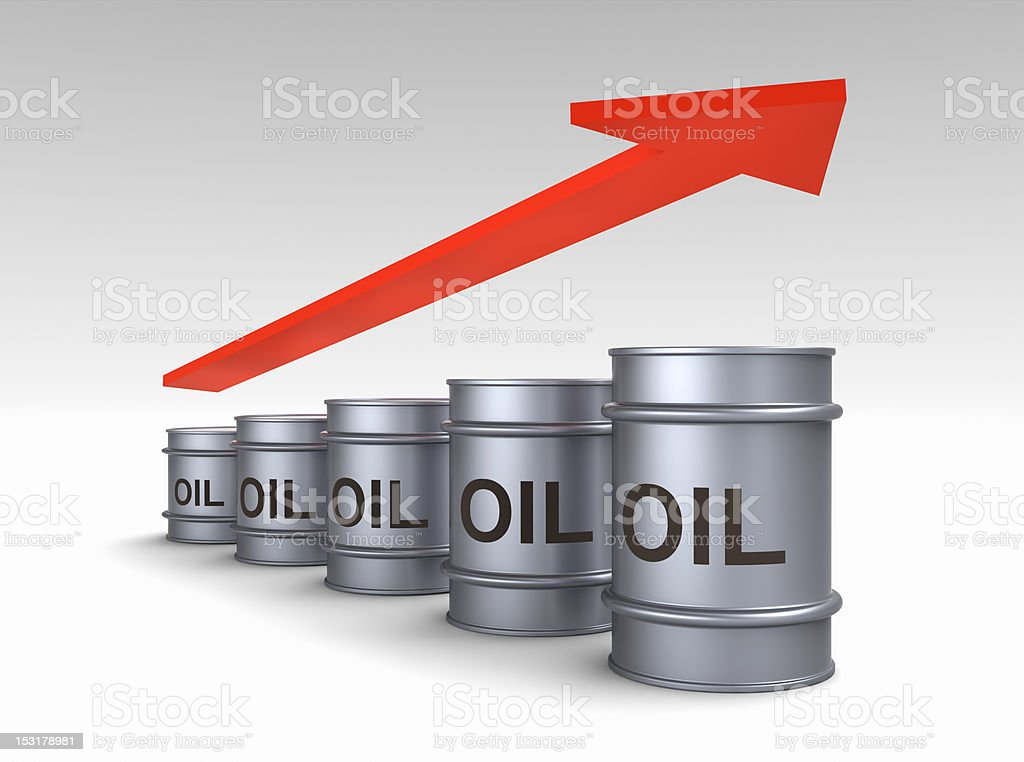 Increasing price of oil concept. stock photo