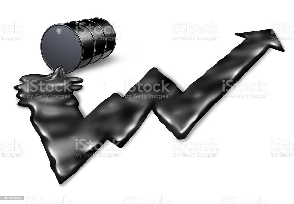 Increasing Price Of Oil royalty-free stock photo