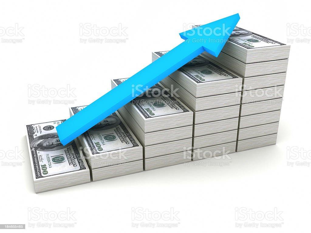 Increasing value of Dollar. royalty-free stock photo