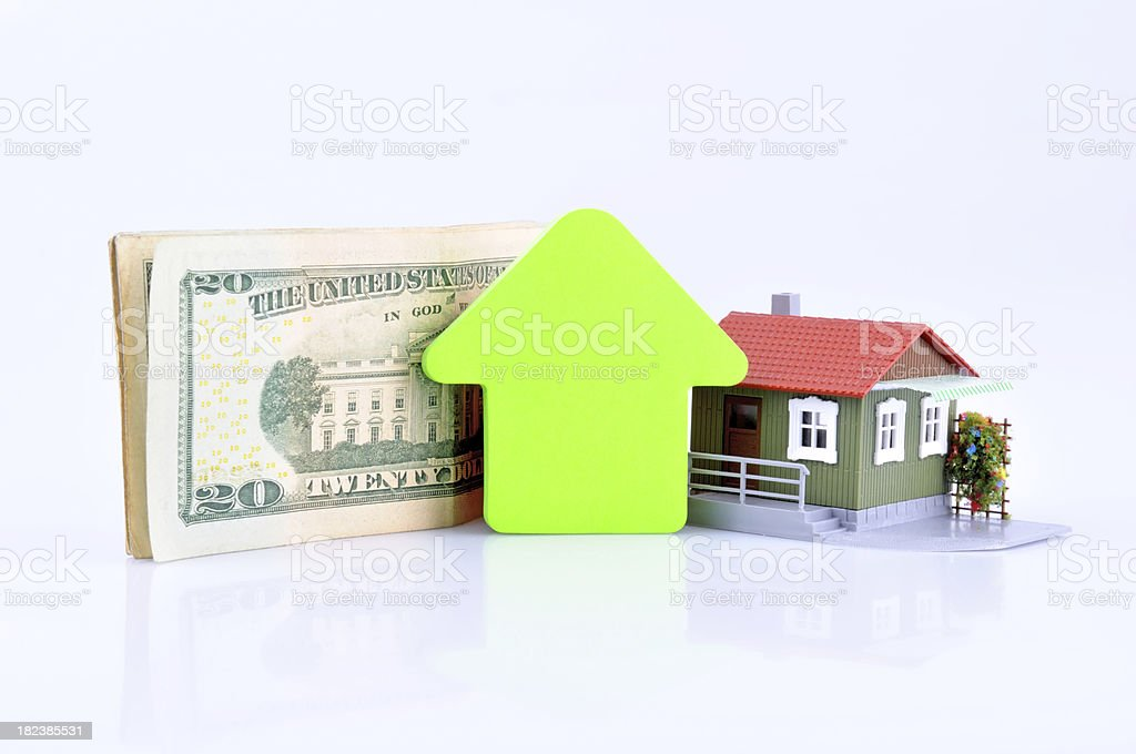 Increasing value of Home Price stock photo