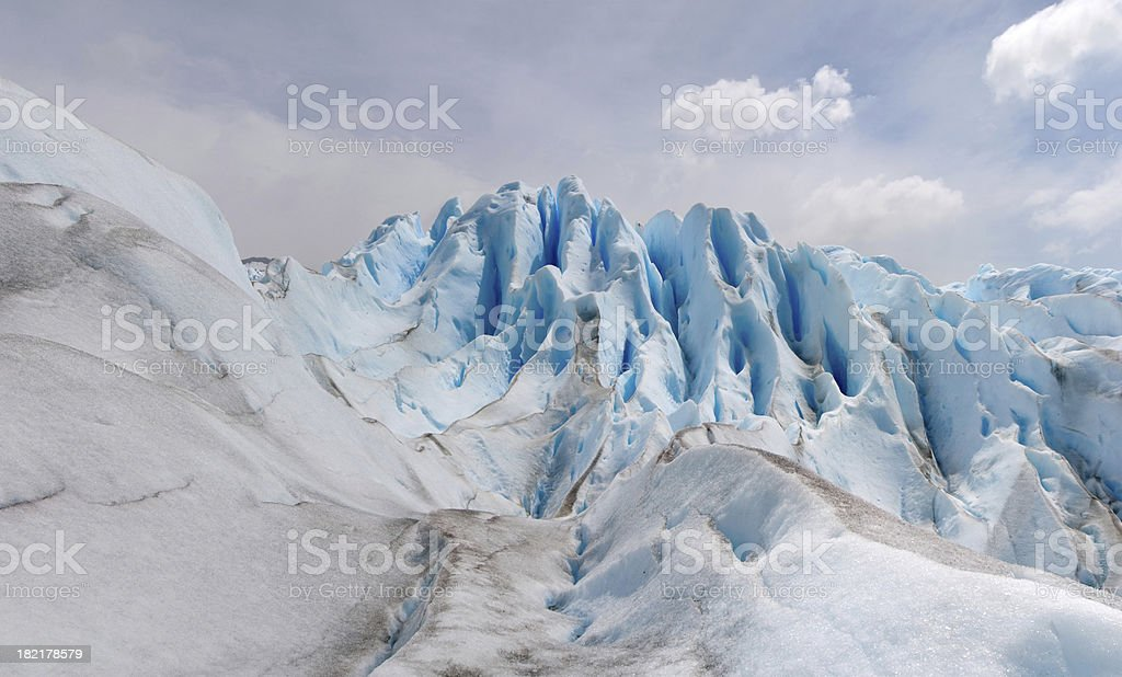 Incredible colours and shape of Perito Moreno Glacier royalty-free stock photo
