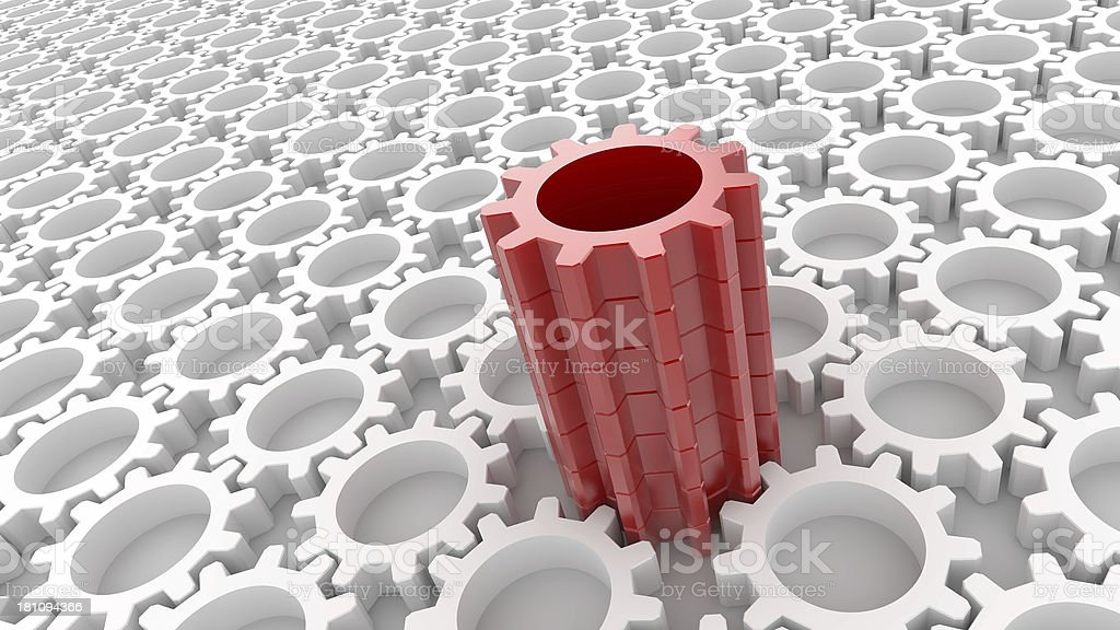 Incredible Gear royalty-free stock photo