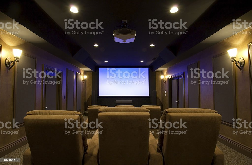 Incredible Home Theater stock photo