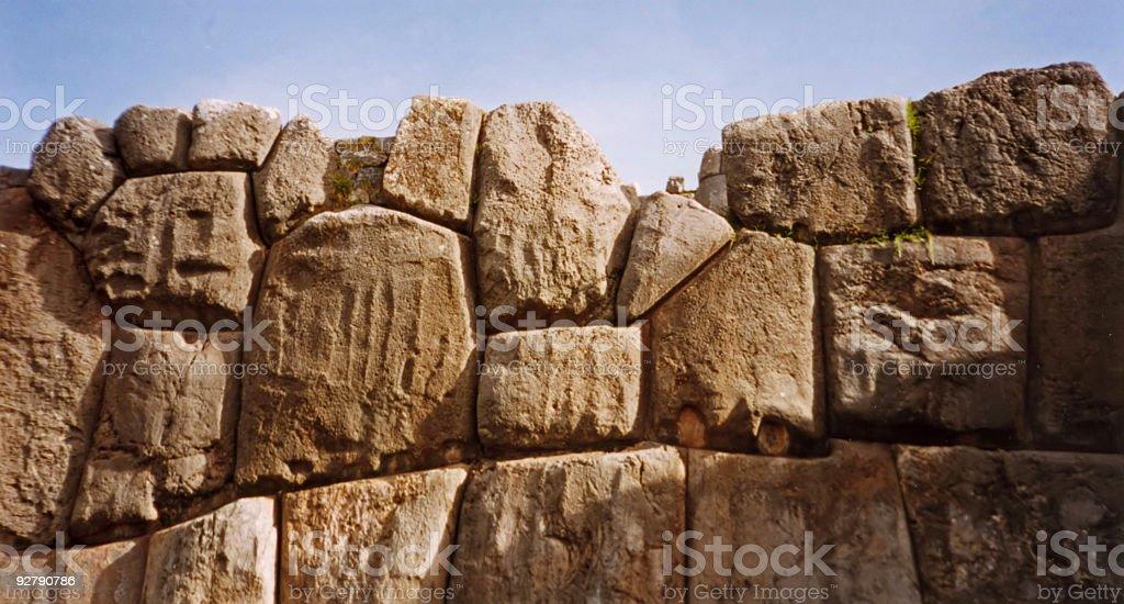incredible inca wall cuso peru royalty-free stock photo