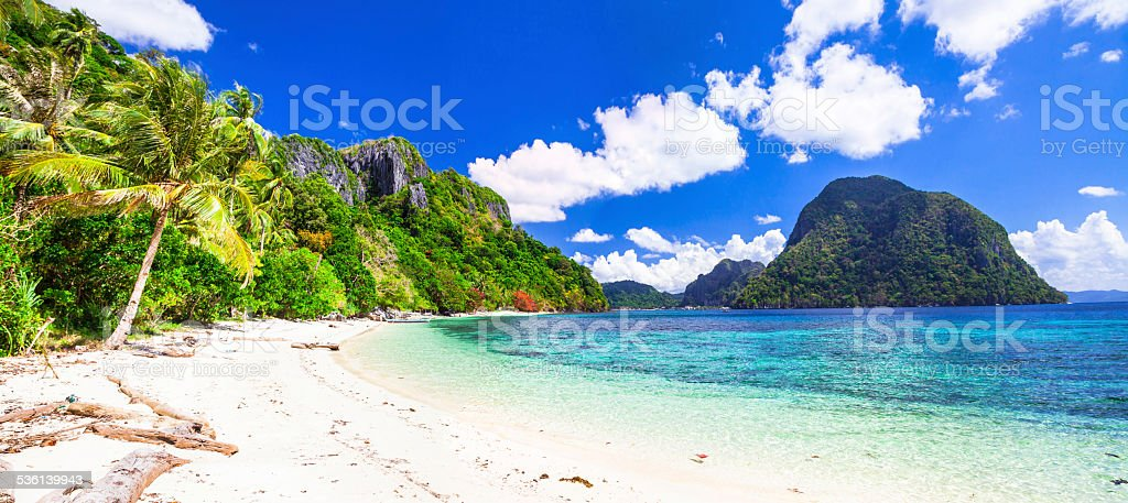 incredible islands of Philippines. stock photo