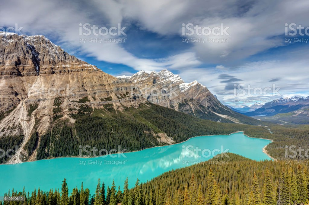 Incredible Peyto Lake stock photo