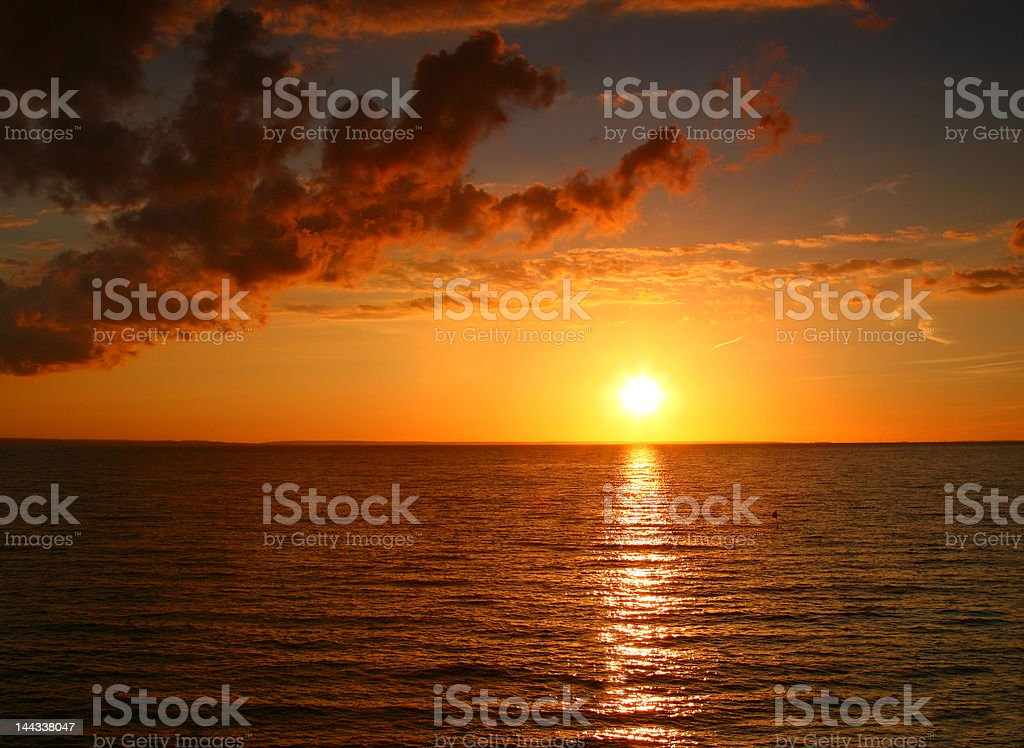 incredible sunset royalty-free stock photo