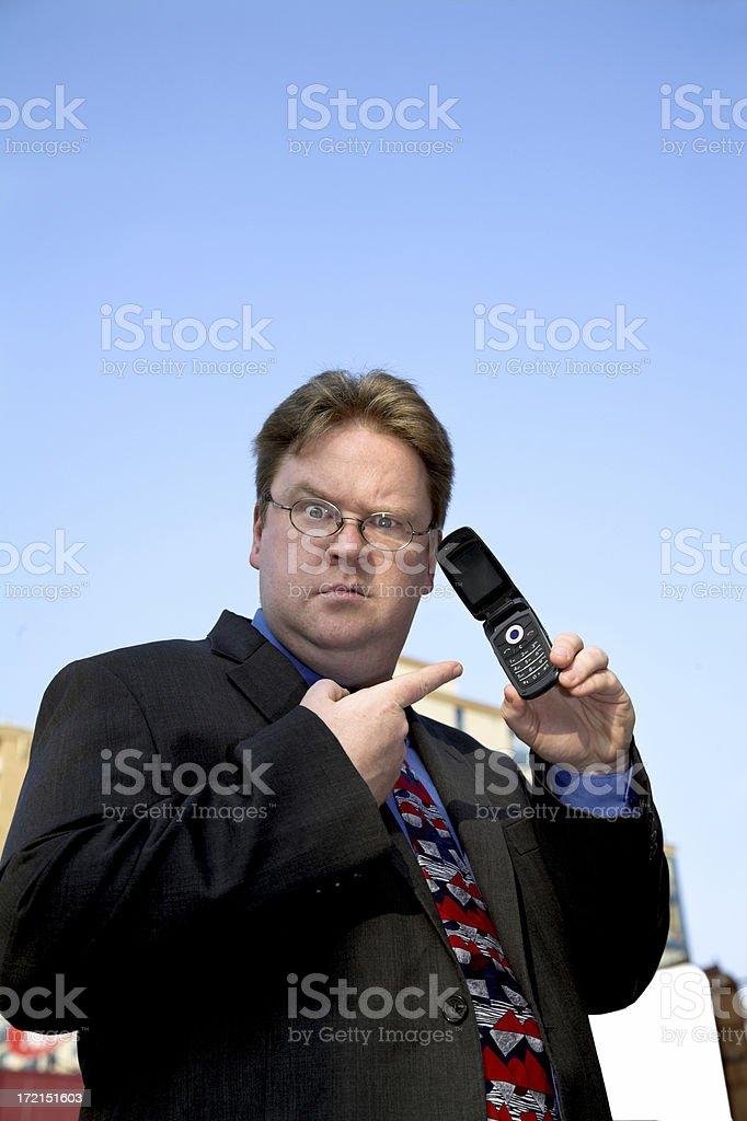 Incredulous Businessman stock photo