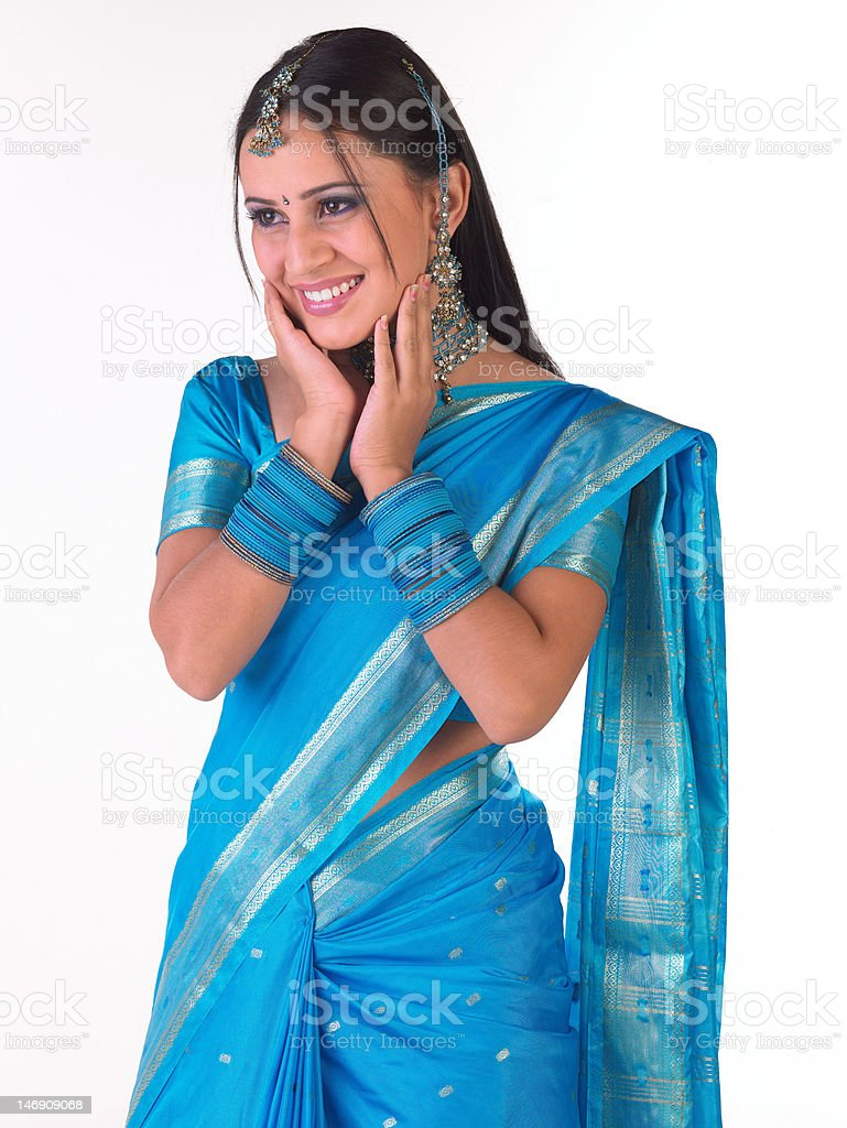Indain woman with rich accessories royalty-free stock photo