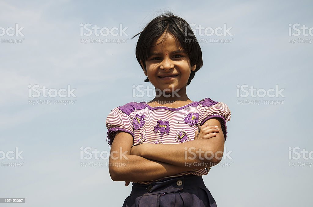 Indan cute girl looking in camera royalty-free stock photo