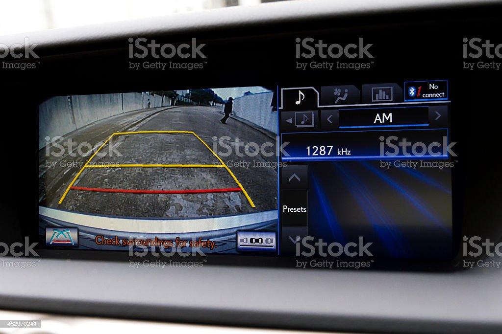 In-dash Reversing camera (RHD) stock photo