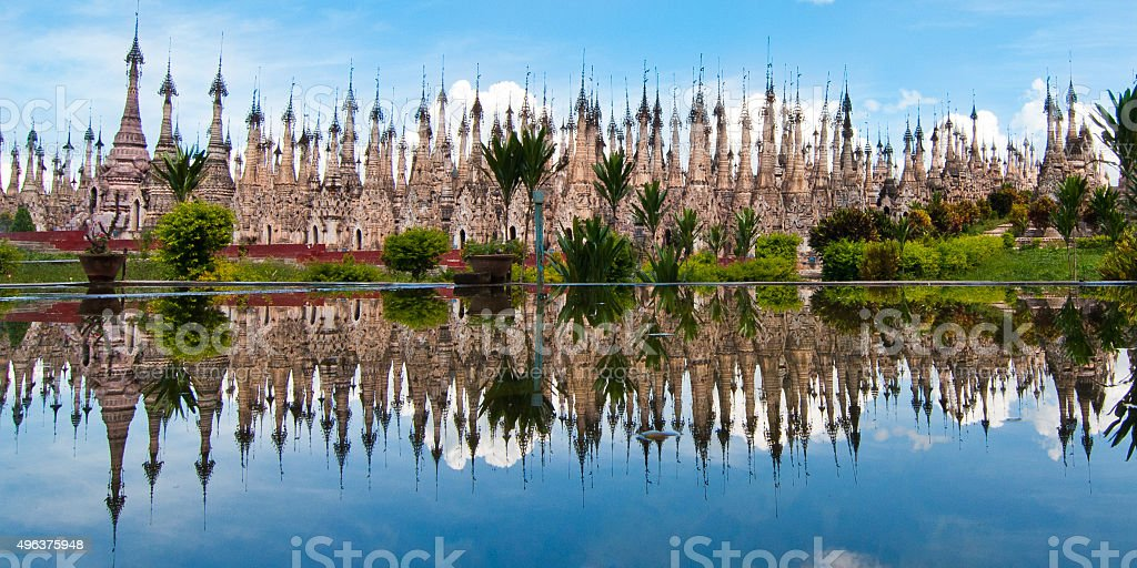 Indein village at the Inle Lake stock photo