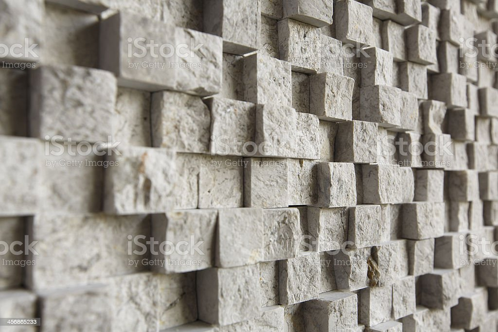 indented wall stock photo