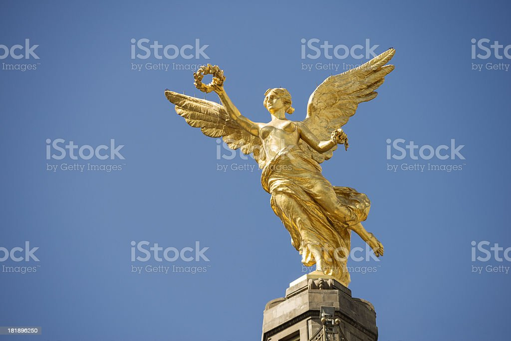 Independence Angel monument in Mexico City stock photo