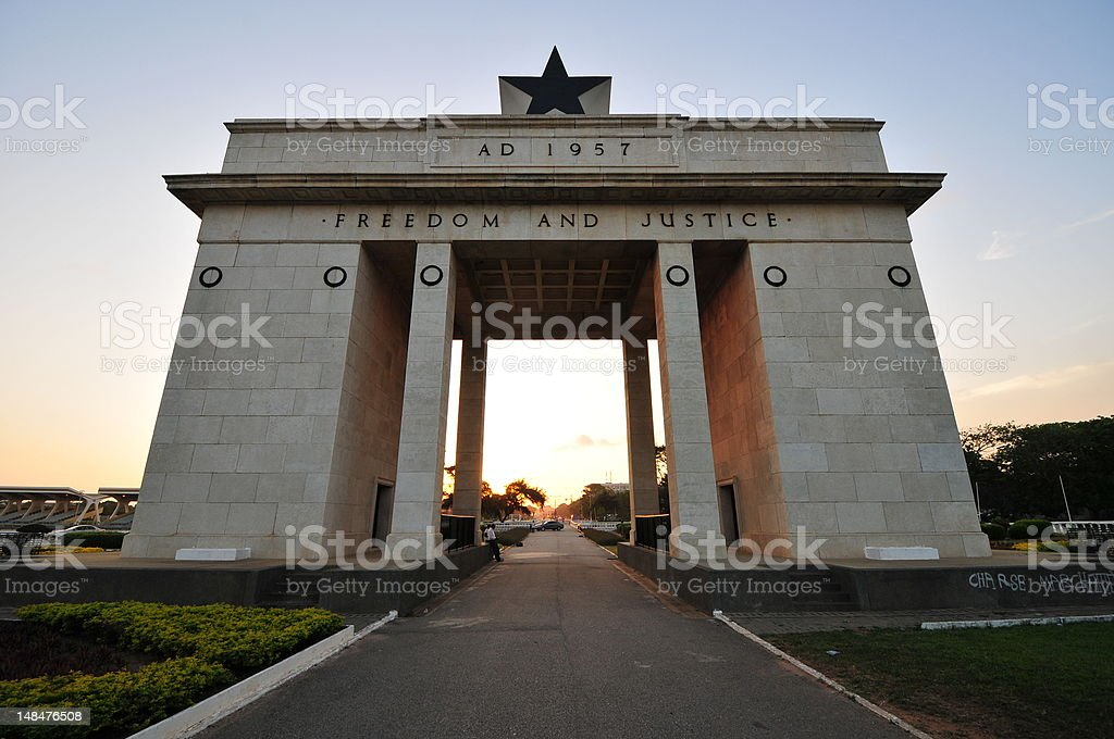 Independence Arch - Accra, Ghana stock photo
