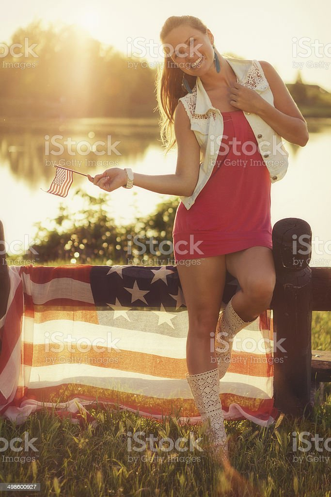 Independence beauty royalty-free stock photo