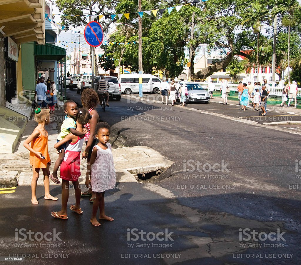 Independence day 2011 in Castries St Lucia stock photo