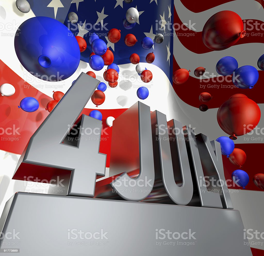 Independence day 4th of July celebration monument royalty-free stock photo