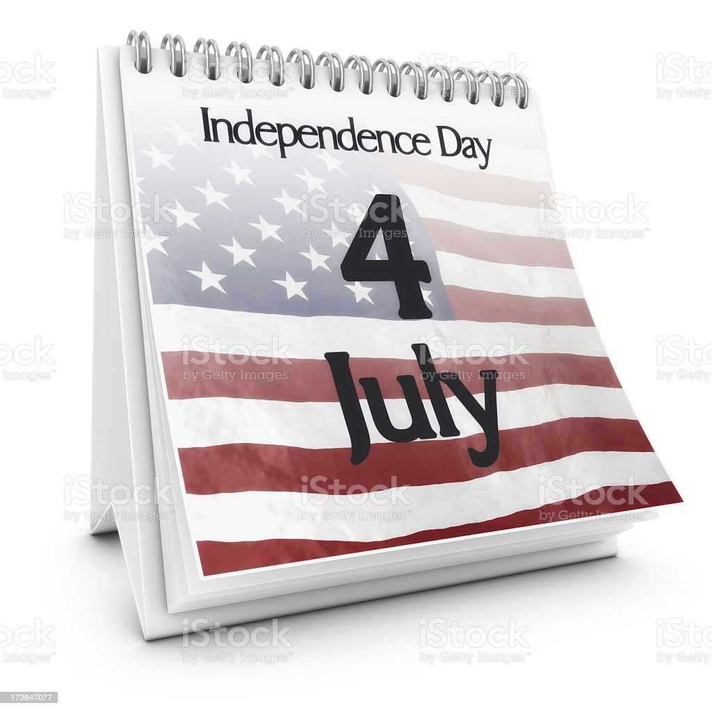 independence day calendar royalty-free stock photo