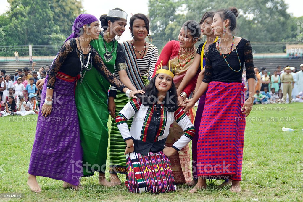 Independence Day Celebration in Assam stock photo