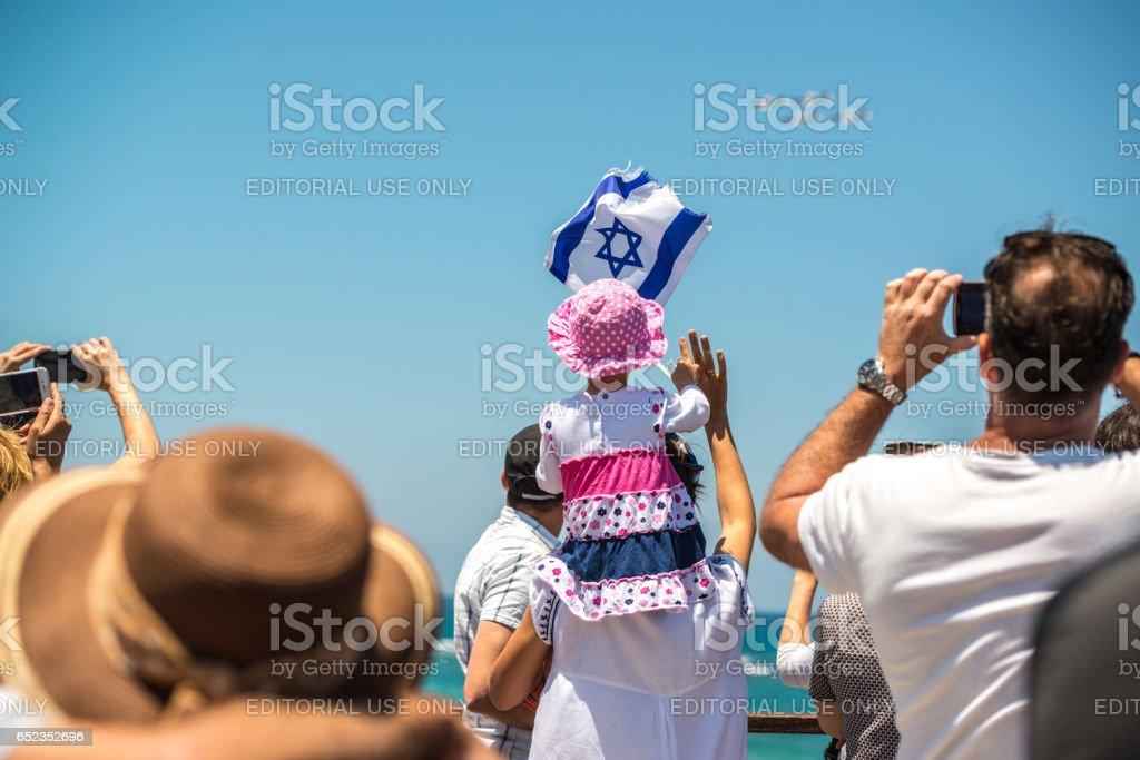 Independence Day Celebration in Tel Aviv, Israel stock photo