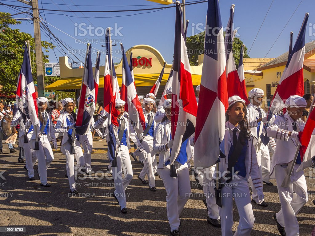 Independence day, Dominican Republic royalty-free stock photo