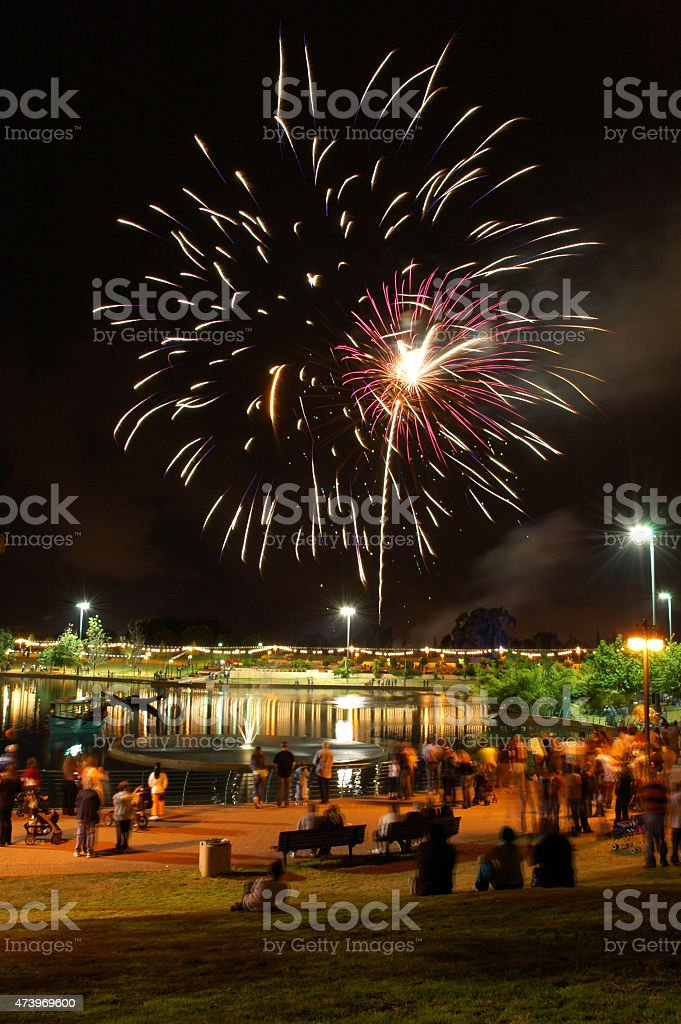 Independence day fireworks stock photo
