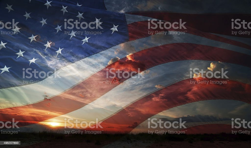 Independence day. flag usa stock photo