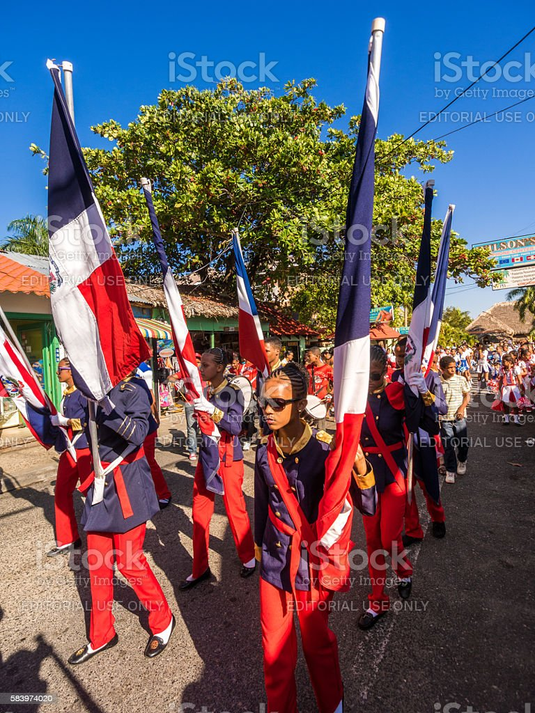 Independence Day in Sosua stock photo