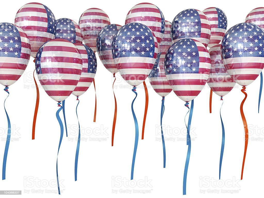 Independence Day US balloons royalty-free stock photo