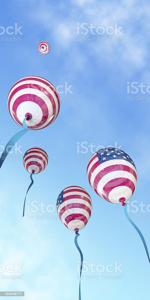 Independence Day US balloons stock photo