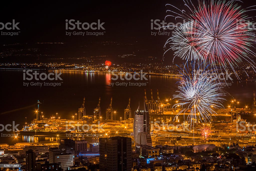 Independence fireworks stock photo