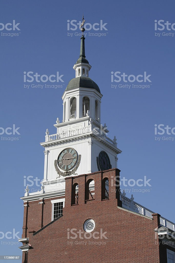 Independence Hall at Knott's Berry Farm stock photo