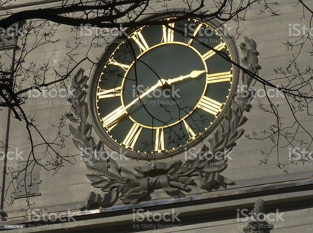 Independence Hall clock revolution 1776 U.S. stock photo
