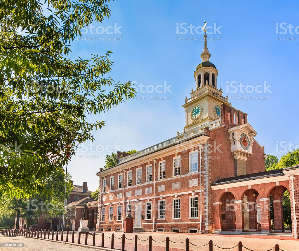 Independence Hall in Philadelphia Pennsylvania stock photo