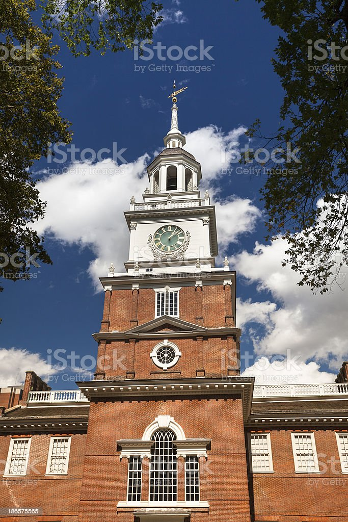 Independence Hall in Philadelphia royalty-free stock photo