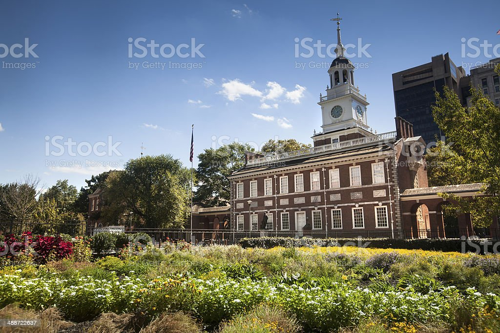 Independence Hall in Philadelphia stock photo