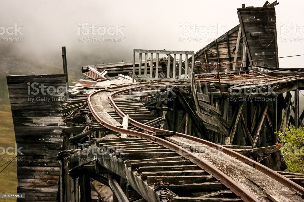 Independence Mine, Hatcher Pass stock photo