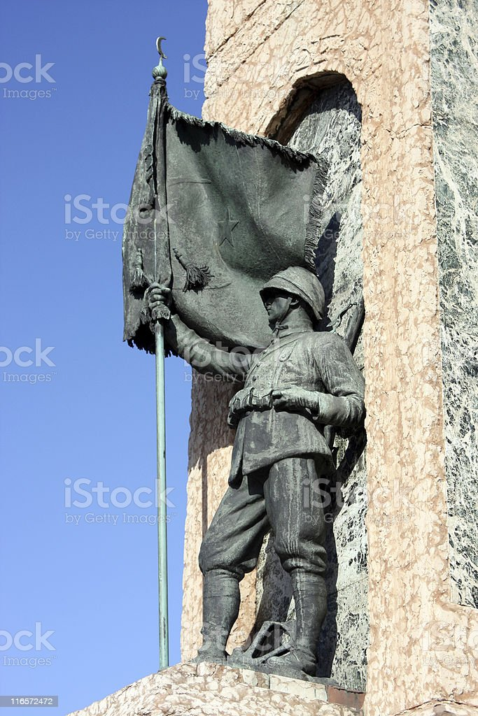 Independence Monument in Istanbul stock photo